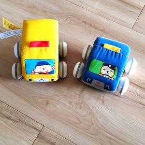 💰2 for $10 Melissa & Doug soft K's kids cars